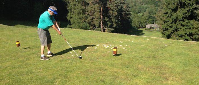 Das wunderschöne Loch 13 im Golfclub Malevil